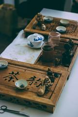 tea-table (YellowTipTruck) Tags: teaparty bunfight greentea tea crockery dishes teagods teatable