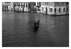 solitary soul (MarcoBertarelli) Tags: monochrome monochromatic bw solitary zeiss contarex venice venezia contrast air open historical place moment man gondolier gondola