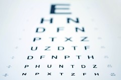 2705196_ml-eyechart (mghresearchinstitute) Tags: blue care character chart check closeup depth diagnosis diagnostic exam examination examine eye eyechart eyesight field focus health healthcare healthy impaired impairment letters macro measure medical myopia nobody ophthalmic ophthalmologist ophthalmology opthalmology optical optician optometrist optometry read see shallow shape sight snellen test view vision visual white