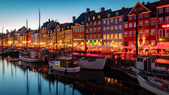 Nyhavn (adrianchandler.com) Tags: exterior urban building bluehour copenhagen denmark city outdoor nightscape nightphotography cityscape architecture