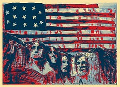 For an American friend.... (GP1805) Tags: artwork art artist draw drawings ink inkdrawing sketchbookpro sketch mountrushmore american america blackhills southdakota americana usa