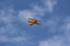 The Flying Circus Wingwalking Team, Shuttleworth Collection Family Air Show, Bedfordshire (IFM Photographic) Tags: img3982a breitlingstearman breitling stearman theflyingcircuswingwalker wingwalker wingwalking nikita aerosuperbatics canon 600d sigma70200mmf28exdgoshsm sigma70200mm sigma 70200mm f28 ex dg os hsm apo tele converter 2x af teleconverter oldwarden bedfordshire beds shuttleworthcollection shuttleworthhouse familyairshow airshow aircraft aeroplane plane airplane boeing