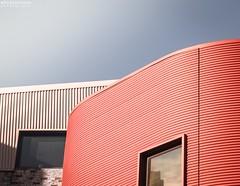 Archiminimal (vito.chiancone) Tags: architecture minimal minimale architettura red sky cielo finiestre windows lines linee geometria geometry urban city australia brisbane pastel colours simplicity