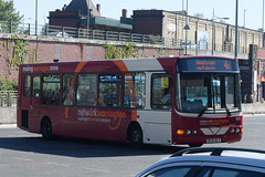 WOB 63 @ Warrington bus station (ianjpoole) Tags: warringtons own buses volvo b6ble wright merit dk56mlv 63 working route 4a warrington bus station acacia avenue woolston