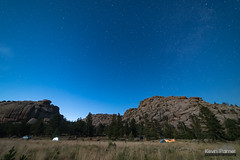 Vedauwoo Campground Night (kevin-palmer) Tags: vedauwoo medicinebownationalforest buford wyoming july summer nikond750 evening turtlerock granite boulders night sky moonlit moonlight blue campground camping clear astronomy astrophotography stars starry samyang rokinon14mmf28 pinetrees astrometrydotnet:id=nova2690308 astrometrydotnet:status=failed