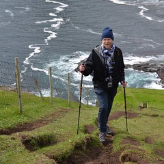 A steep path (mikael_on_flickr) Tags: steeppath sentieroripido gjógv føroyar færøerne faroeislands isolefaroe mikael me i io ich moi ego self gay male man mann uomo homme hombre guy mec mashcio maschile wanderlust wanderer vagabondo steep ripido