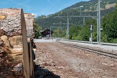 Train station in Graubünden (CH) (WolfgangPichler) Tags: graubünden switzerland rhb trainstation