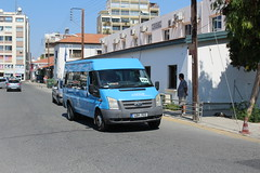 Transit from Tekke. (steve vallance coach and bus) Tags: lbh922 fordtransit zenonbuses larnaca cyprus