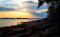 Light of July (Joni Mansikka) Tags: summer nature outdoor sea shore rocky silhouettes trees sky clouds light evening sauvo suomi finland landscape atx280afpro tokinaaf2880mmf28