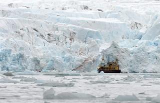 Under the glacier, Svalbard