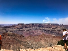 Grand Canyon National Park Desert View (dstta919v) Tags: smoke fire land sun blue sky grandcanyon nationalpark