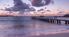 Jetty at Days End (Jared Beaney) Tags: canon6d canon australia australian travel photography photographer rottnest rotto island islands boardwalk jetty sunset clouds ocean bay cove geordiebay