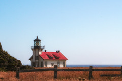 Point Cabrillo Light (amarilloladi) Tags: landscapes landscape 7dwf travel fencedfriday hff lighthouse pacificocean ocean sea california californiacoast coast shore shoreline fences fence woodfence