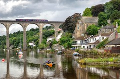 Calstock, Cornwall (Baz Richardson (catching up again)) Tags: cornwall calstock calstockviaduct rivertamar villages tamarvalleyline trains