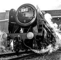 Rothley (Peter Leigh50) Tags: oliver cromwell fujifilm fuji xt10 blackandwhite black white bw steam locomotive great gcr central railway railroad rail train track bridge