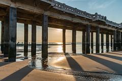 Sundown under the Pier, Blankenberge (G_Albrecht) Tags: bel sundown architektur aussenansicht bebelgien blankenberge europa flaemischenregion küste landschaft profan sonne sonnenschein sonnenuntergang strand umwelt westflandern wetter