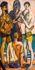 Young Men by the Sea (Thomas Hawk) Tags: america forestpark maxbeckmann missouri mo museum saintlouisartmuseum stlouis usa unitedstates unitedstatesofamerica youngmenbythesea artmuseum painting fav10