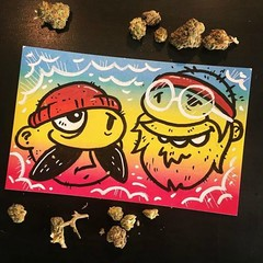 Up in Smoke! (Question Josh? - SB/DSK) Tags: sticker stickers slaps pot weed marijuana cheech chong markers josh