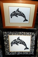 dolphin (Mischandler) Tags: mischa print dolphin silhouette abstract pictures frames crafts crafting rolledpaper magazines mats projects photo display tubes rolls glue colorful tribal swirls