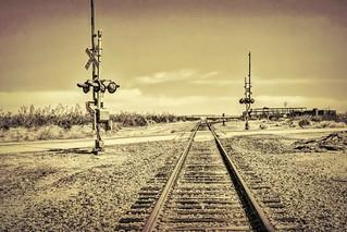 Railroad Crossing Textured