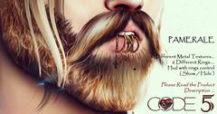 CODE-5 [ Pamerale ] MEN V0.01 (Code-5) Tags: catwa bento rings gold bronz silver rosegold black white kelly code5 code piercings piercing