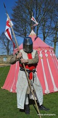 St George (amhjp) Tags: stgeorge england english british britain knight armour armouries flag uniforms yorkshire amhjpphotography amhjp nikon tent blue sky man people photography portrait portraiture portraits pontefract pontefractcastle castle reenactors reenactment history heritage historical livinghistory