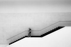 downstairs (ro_ha_becker) Tags: münster lwlmuseum museum architecture architektur analogue film leicafilm monochrome zwartwit schwarzweiss biancoenero blackandwhite blancoynegro blancetnoir minimal minimalarchitecture