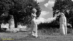 La Vallée des Saints en Bretagne (claude 22) Tags: valléedessaints bretagne breizh carnoet sculpture monumentale culture legends art granit tourism bw monochrome aude statues noir blanc claude22 brittany france fuji xt1 1024mm bretagna bretaña