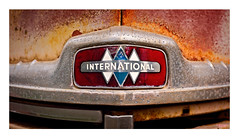 The International (MBates Foto) Tags: aged automobile availablelight blue color daylight existinglight grill international macro nikkorlens nikon nikond810 nikonfx outdoors red rust texture mead washington unitedstates 99021
