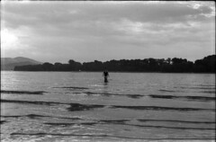 mermaid wave (Arpadkoos) Tags: praktica b100 helios m444 people water duna mermaid wave blackwhite blackandwhite