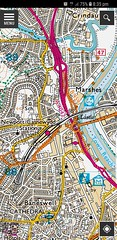 2018 0807 704 (Lucy's phone) OS map tile, on OS MapFinder app (Lucy Melford) Tags: samsunggalaxys8 newport memorymap ordnance survey digital explorer map