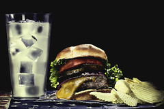 024693763540-102-Cheeseburger Ice Cold Lemonade whith a Side of Chips-2-Cinematic (Jim There's things half in shadow and in light) Tags: 2018 american canon5dmarkiv july tamronsp90mmf28dimacro11vcusd flage food lemonade potatochips stilllife summer hamburger cheeseburger