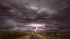 flashpoint... (BillsExplorations) Tags: storm severestorm lightning rain thunderstorm tornado clouds weather brooding darkskies stormfront stormscape illinios iowa cornfield flashpoint wow