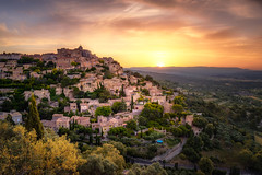 Gordes-Sunrise (deanallanphotography) Tags: adventure anawesomeshot artisticexpression beauty colors clouds elevatedview flickrsbest fab impressedbeauty landscape light mountain morning ngc natgeo nikon outdoor outdoors photography panorama peaceful peaceandquiet rock sunset sunrise travel