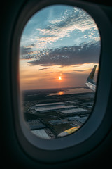 landing at sunset (M///S///H) Tags: 24mm lenstagger airplane canonfd24mmf14fd dfw engine f14 flying fromthewindow inbetween landing plane planewindow spirit spiritairlines sunlight sunset travel traveling wing