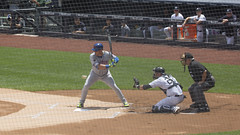 Austin Romine behind the plate (Mark Shallcross) Tags: 0f4a2073r16x9 yankees yankeestadium baseball mets romine austinromine cabrera asdrubalcabrera
