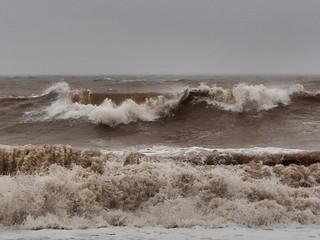 A very rough sea