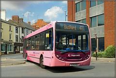 36045, Bridge Street (Jason 87030) Tags: uno pink cancer 36045 41 bedford bridgest street northants northampton northamptonshire enviro e200 east sunny ae08nvv usual suspect parking july 2018