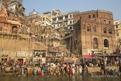 Varanasi (Rolandito.) Tags: asia india inde indien varanasi benares uttar pradesh ganga ganges river ceremony