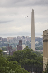 Long view (Tim Brown's Pictures) Tags: washingtondc capitolhill summer travel nationalmall verticalformat smithsoniancastle lincolnmemorial washingtonmonument rainclouds airplanelanding uscapitol libraryofcongress washington dc unitedstates
