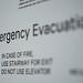 Emergency Evacuation Route Signage, Hotel room