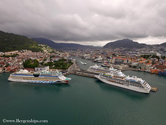 Aidaluna, Pacific Princess and Aidaaura (Bergenships) Tags: aidaluna aidaaura pacificprincess aidacruises aida princesscruises princess cruise cruiseship cruiseskip bergen norge norway travel fjord fjords drone kreuzfahrtschiff kreuzfahrt kreuzfahrten kreuzfartschiffe germany