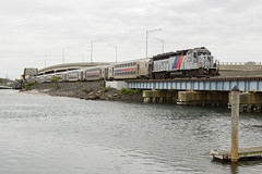 CNJ to the Rescue (sully7302) Tags: nj transit cab car crisis gp40ph2 4105 belmar avon shark river bridge railroad train trains geep gp40 urban north jersey coastline njt rail