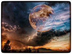 Blood moon (tatianalovera) Tags: italy italia piemonte piedmont revello clouds nuvole albero tree r wood foresta forest cielo sky storm rossa red luna moon lupo wolf