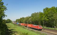Sangenstedt 185 361-3 Container (Wolfgang Schrade) Tags: br185 1853613 db dbcargo containerzug container kbs110 sangenstedt zug güterzug eisenbahn