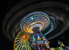 roundabout (Blende1.8) Tags: nightshot night action rotunde round ilce7m3 colourful colorful colors colours vivid herne kirmescrange roundabout karussell movement carousel carrousel merrygoround riesenrad crange ruhrgebiet ruhrpott wideangle sony 1224mm sel1224g a7iii a7m3 langzeitbelichtung exposure longexposure