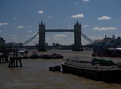 2018 06 22 - Tower Bridge and the working river 1 (LesHutchinson) Tags: towerbridge riverthames workingboats ruleofthirds