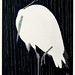Egret in the rain (1925 - 1936) by Ohara Koson (1877-1945). Original from the Rijks Museum. Digitally enhanced by rawpixel.