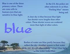 Blue poster (Martin LaBar) Tags: color blue blau poster azul light wavelength reflection refraction