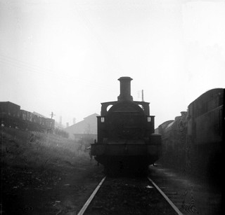 41835 stored at Canklow MPD on a misty gloomy day in March 1966.